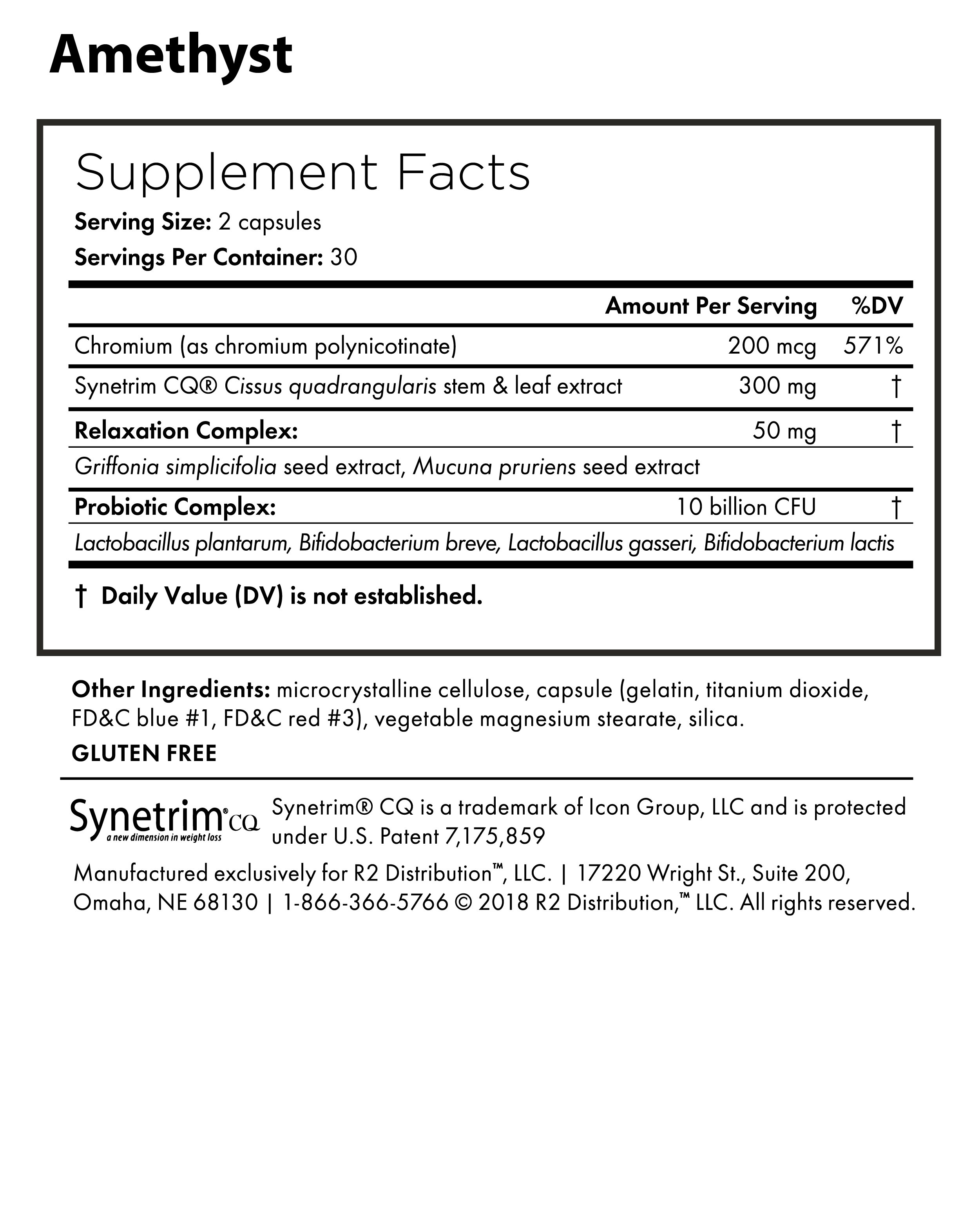 Mood & Energy KIT - Nutrition Facts
