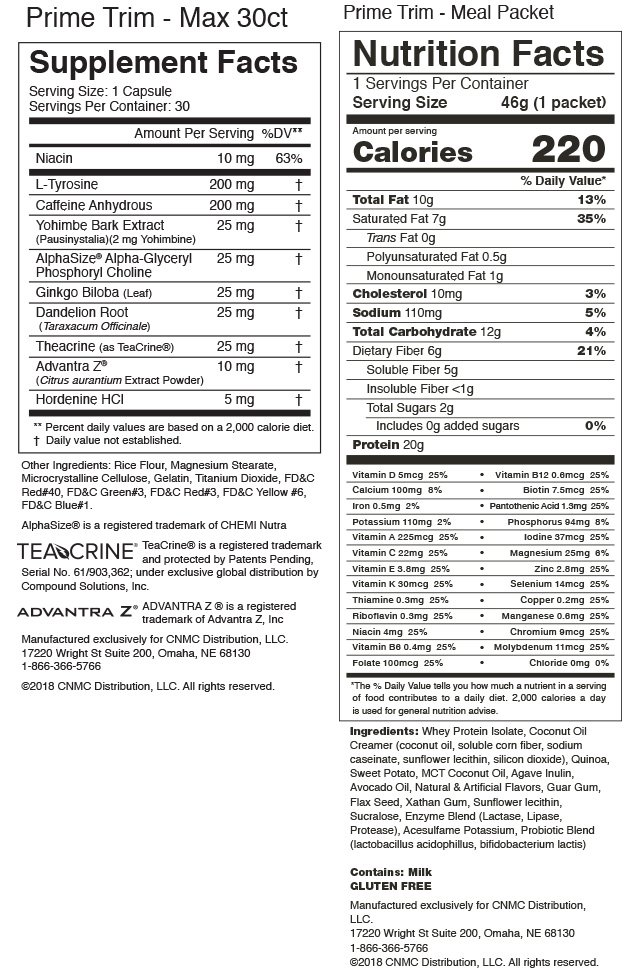 Prime Trim Starter Kit -Nutrition Facts